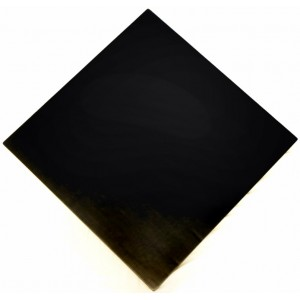 900mm, Timber Veneer Table Top, Rebate Edge, Square, Black